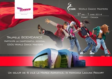 Trei trupe BOEMDANCE participa la campionatul mondial ESDU World Dance Masters din Croatia