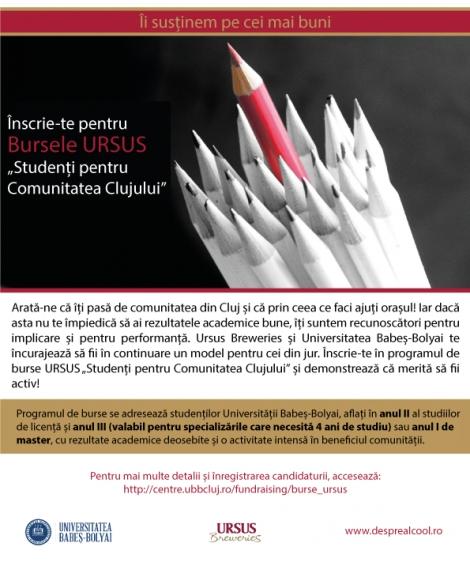 """Ursus lanseaza programul de burse """"Studenti pentru Comunitate"""""""