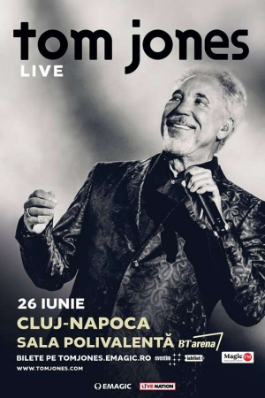 Sir Tom Jones va canta pentru prima data in Cluj-Napoca in 2019