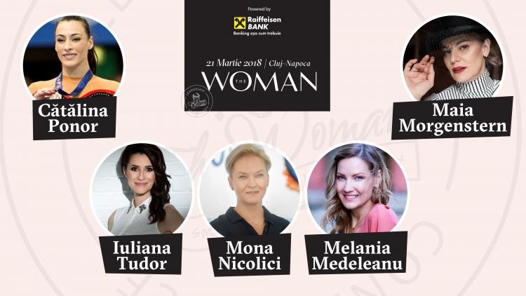 Nume importante urca pe scena Conferintei The Woman: Catalina Ponor, Melania Medeleanu, Mona Nicolici sau Maia Morgenstern