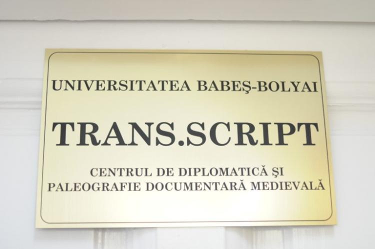 S-a deschis la UBB Centrul de Diplomatica si Paleografie Documentara Medievala