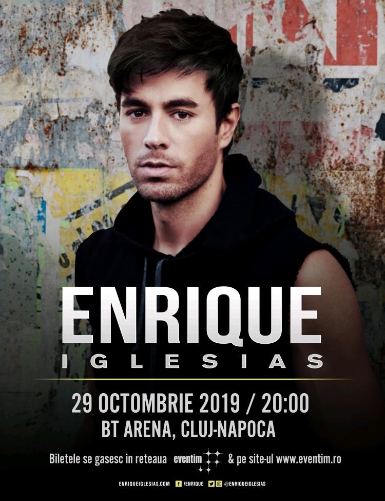 "Enrique Iglesias pentru prima data la Cluj in concertul mult asteptat ""All the hits LIVE"""