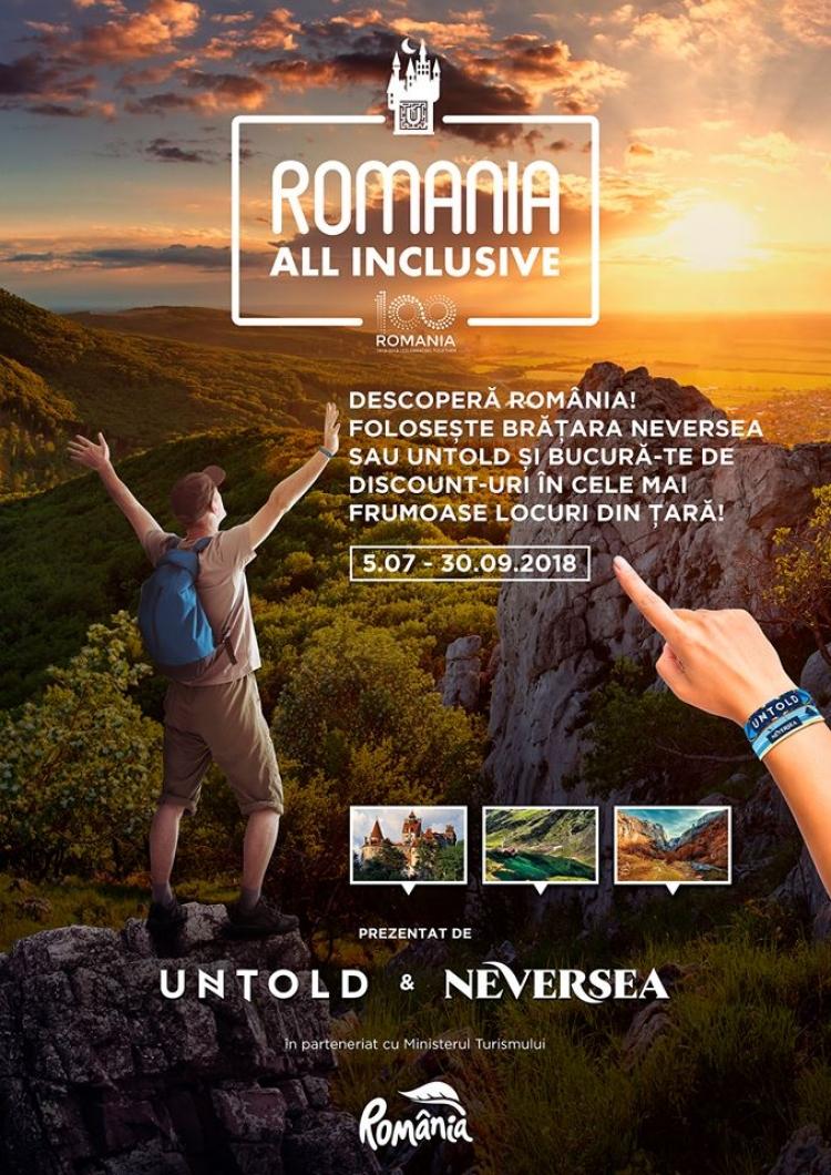 "UNTOLD - ""Romania ALL INCLUSIVE"", campania internationala de promovare a Romaniei!"