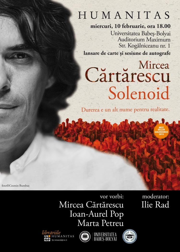 Mircea Cartarescu vine la Universitatea Babes-Bolyai